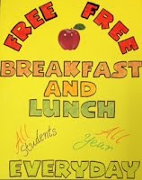 Free Breakfast and Lunch poster for Rail Road Flat Elementary